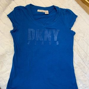 dkny | blue cap sleeve t-shirt